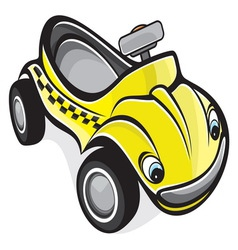 Cute race car vector image