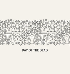 Day of the dead banner concept vector
