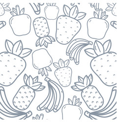 Delicious and exotic fruit background design vector