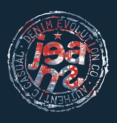 denim jeans evolution rubber stamp vector image