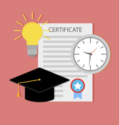 education certificate start teaching vector image