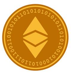 Ethereum classic digital coin vector