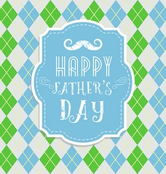 Fathers day card in retro style vector image