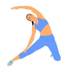 Fitness woman instructor exercise training in gym vector