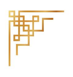 Flat color ornament border icon vector
