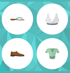 flat icon garment set of male footware casual vector image