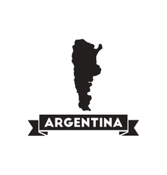 Flat icon in black and white map of Argentina vector