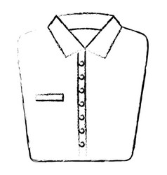 Folded elegant shirt icon vector