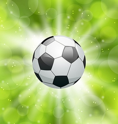 Football light background with ball vector image