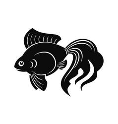 Goldfish flat vector