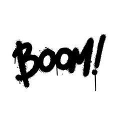 graffiti boom word sprayed isolated on white vector image