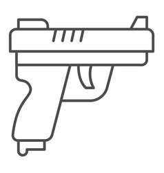 gun thin line icon self defense concept pistol vector image