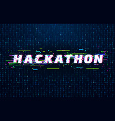 hackathon background hack marathon coding event vector image