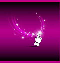 Hand click magic button vector