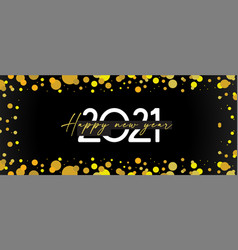 happy new year- 2021 banner with glittery vector image