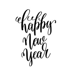 happy new year hand lettering inscription to vector image