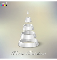 Holiday abstract silver Christmas tree vector