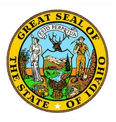 Idaho state seal vector