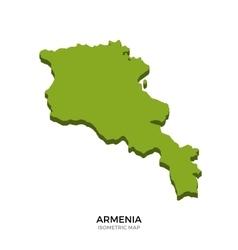 Isometric map armenia detailed vector