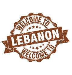 lebanon round ribbon seal vector image