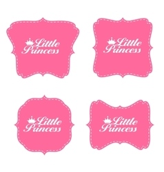 Little Princess Label Set vector