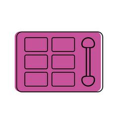 Makeup eyeshadow palette icon imag vector