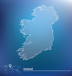 Map of Ireland vector image