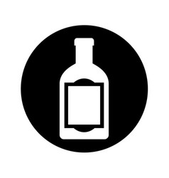 mexican tequila bottle isolated icon vector image
