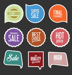 modern sale stickers and tags collection 4 vector image