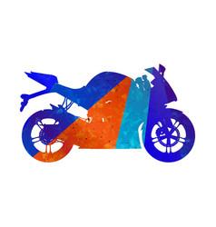 Motorcycle grunge silhouette sport bike vector