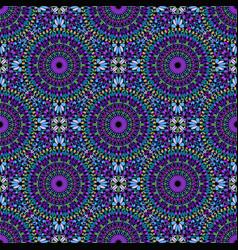 Oriental abstract seamless kaleidoscope pattern vector