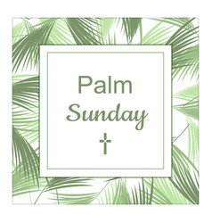 Palm sunday banner as religious holidays vector