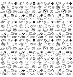 pattern cat lover vector image