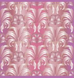 Pink damask 3d seamless pattern surface vector