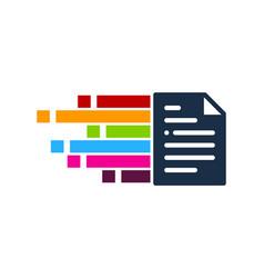 pixel art document logo icon design vector image