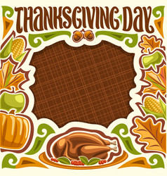 placard for thanksgiving day vector image