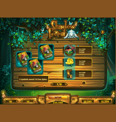 playing field slots game for shadowy forest gui vector image