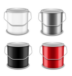 Realistic 3d mockup paint can set vector