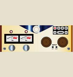 Reel to reel controls panel vector