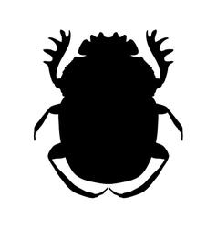 silhouette scarab silhouette Geotrupidae dor vector image