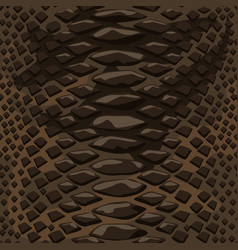 snake skin seamless background flat and solid vector image