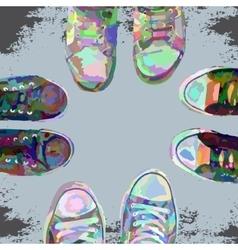 Sneakerscolor vector