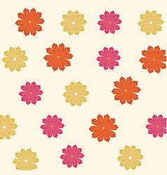 spring flowers ornament seamless floral pattern vector image