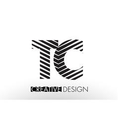 Tc t c lines letter design with creative elegant vector