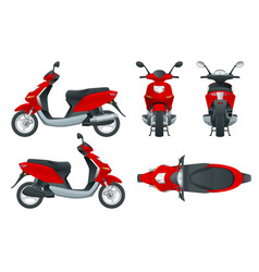 trendy electric scooter isolated on white vector image