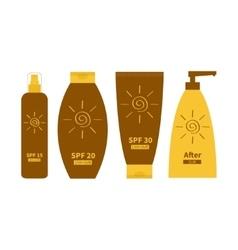 Tube of sunscreen suntan oil cream After sun vector