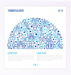 Tuberculosis concept in half circle vector