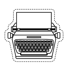 typewrite retro isolated icon vector image