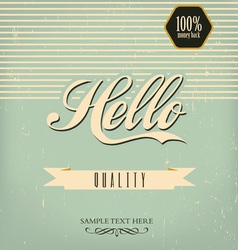 vintage design template vector image