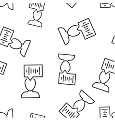 Voice recognition icon seamless pattern vector